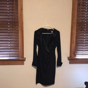Tuxedo wrap evening gown from Alex Evenings
